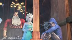"""""""Hey jack, are you ok?"""" """"No i just feel...alone."""" *elsa sighs* """"I know exactly how you feel."""""""
