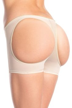 24d8c88dd34f7 Butt booster boyshort with rear round openings for a natural lift. Nude.  Box packaging