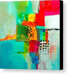 Fresh Paint Canvas Print featuring the painting Fresh Paint #5 by Jane Davies