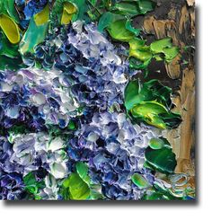 HYDRANGEA Original Oil Painting Flowers ART B Sasik by bsasik, $50.00
