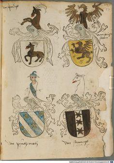 Tirol, Anton: Wappenbuch Süddeutschland, Ende 15. Jh. - 1540 Cod.icon. 310  Folio 87r