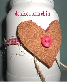 Jar of Hearts: a super-simple Valentine craft with scrap bits and pieces and a recycled jar
