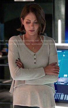 cropped henley top #TheaQueen #Arrow -> Outfit Details: http://wornontv.net/53609/