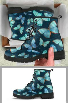 Check out our premium boots for butterfly lovers!  More than 500 reviews available in our site.