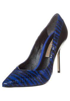 High heels - snake zebra/black/royal