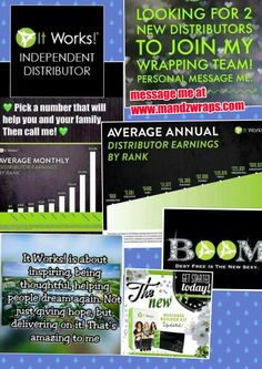 IT PAYS to join IT WORKS IT IS real money IT IS real BONUSES IT IS real FREE CREDIT IT IS super SUPPORTIVE  IT IS time to JOIN ME!!! IT IS WORTH IT.  www.mandzwraps.com