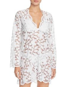 943d0d35f9c9b Valdi Floral Lace Tunic Cover-Up Women - Swimsuits   Cover-Ups -  Bloomingdale s
