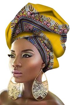 Best 12 Ababalaya Women's Extra Long African Traditional Wax Print Head Scarf Wrap Tie inch African Hats, African Attire, African Women, Head Wrap Scarf, Long Scarf, African Head Wraps, African Dashiki, African Inspired Fashion, My Black Is Beautiful
