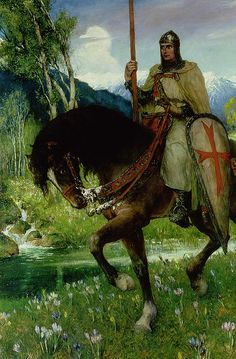 Avalon Camelot King Arthur:  Parsifal In Quest of the #Holy #Grail, by Ferdinand Leeke.
