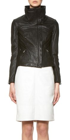 Whistles - Joplin Leather Jacket
