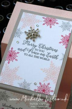 Z Fold Snowflake Christmas Card Diy Christmas Snowflakes, Snowflake Craft, Snowflake Decorations, Christmas Crafts, Christmas Decorations, Handmade Christmas, Christmas Ideas, Homemade Christmas Cards, Stampin Up Christmas