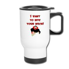 This Vampire Travel Mug is On Sale every day of the year at PersonalizedSouvenirs.com.