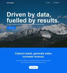 Peak Digital - Flat Design Website
