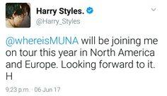 Harry on twitter. June 6th.