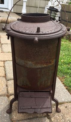 Antique Small Cast Iron Saulson Parlor Wood/Coal Stove Tin smith Troy NY | Antiques, Home & Hearth, Stoves | eBay!