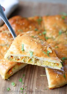 Chicken Cabbage Savory Pirog Recipe. The softest yeast recipe with a savory cabbage filling.