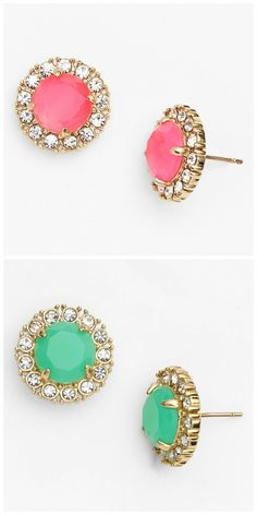 Sparkly Kate Spade earrings to brighten up any outfit.