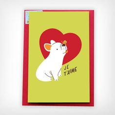 'Frenchie Love' Card