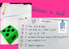 Larissa's Language Studio: The dice game: a fun, low-prep speaking game