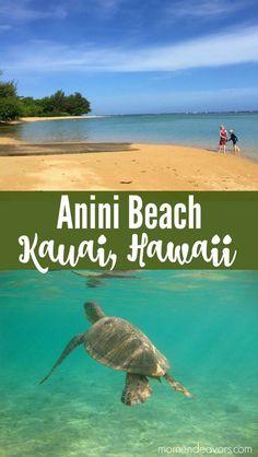 Anini Beach Kauai, Hawaii - Best Kauai Beaches with Kids