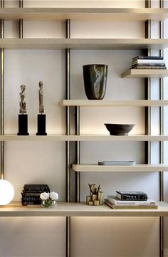 New wall display shelves design cabinets ideas Luxury Interior Design, Interior Design Inspiration, Modern Interior, Interior Architecture, Architecture Artists, Shelf Design, Cabinet Design, Display Shelves, Shelving