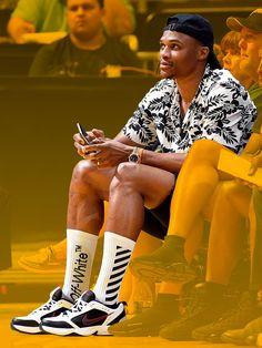 Introducing Russell Westbrook, Style Dad - The Thunder guard wore Nike's goofiest, most dad-beloved shoe, the Air Monarch IV, and we kinda love it.