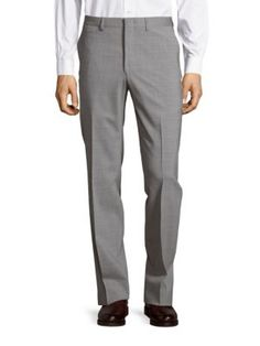 MICHAEL KORS Textured Solid Pants. #michaelkors #cloth #pants