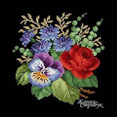 Code 241220 The size of the scheme is 94x94 stitches. A palette of 35 colors in DMC. The scheme uses only one type of stitch - a full cross. The scheme is suitable for embroidery with beads and petit point. The background for this embroidery will suit anyone but white. Price 4$