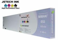 Mimaki ES3 compatible Ink Cartridge 440ml JV5 JV33 CJV30 SPC-440W - White #JeTechInk