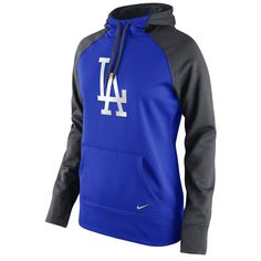 Los Angeles Dodgers Nike Women's All Time Performance 1.5 Pullover Hoodie - Royal - $52.99