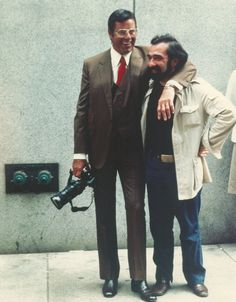 """Jerry Lewis and Martin Scorsese filming """"The King of Comedy"""" (1982). COUNTRY: United States. DIRECTOR: Martin Scorsese."""