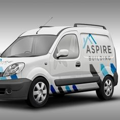 Aspire Building Tradesman Logo Design, Corporate Branding & Vehicle Graphics Design