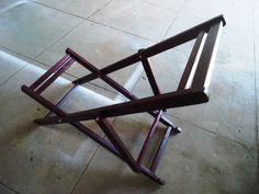 Cadeira Espreguiçadeira de madeira- roxinho - com  Óleo de linhaça