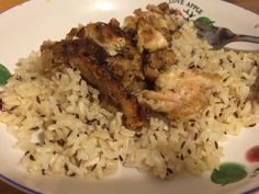Zeerah polow and chicken