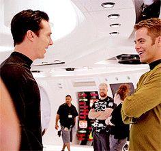 (gif) Ben and Chris having a giggle