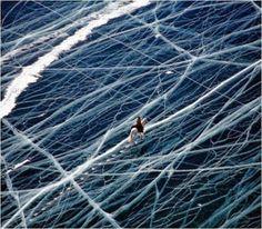 Замерзший Байкал.