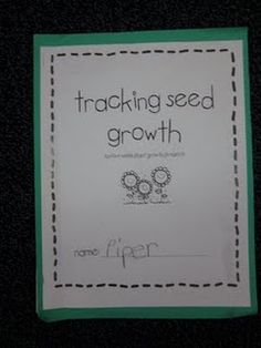 Plant unit - Tracking seed growth