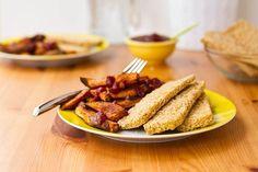 Easy Weeknight Dinner: Crispy Breaded Tofu Strips & Sweet Potato Fries