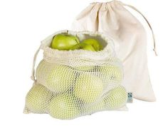 Organic Cotton Produce Bags - 2 Pack Produce Bags, Drawstring Backpack, Organic Cotton, Packing, Photo Ideas, Minimal, Deco, Interior, Products