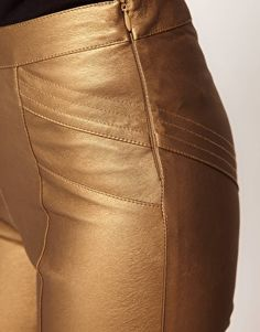Enlarge ASOS Skinny Trousers in PU with Panel Detail