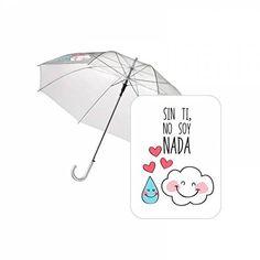 Paraguas automatico transparente Baggy Sin ti - http://comprarparaguas.com/baratos/transparentes/paraguas-automatico-transparente-baggy-sin-ti/