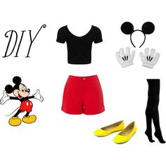 DIY Halloween Outfit- Mickey Mouse by vicky-shaw on Polyvore featuring moda, Karen Millen and Scoop