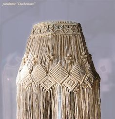 Image result for macrame lamp shade