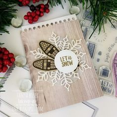 What better time to play with the gorgeous Alpine Adventure stamp set. It is perfect for Christmas and all things sn. Christmas Sled, Christmas Tree Cards, Stampin Up Christmas, Christmas Snowflakes, Holiday Cards, Christmas Holidays, Alpine Adventure, Snowshoe, Stamping Up Cards