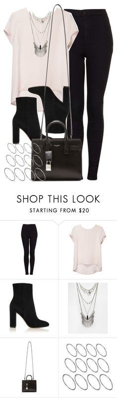 """Style #10380"" by vany-alvarado ❤ liked on Polyvore featuring Topshop, Gianvito Rossi, ASOS and Yves Saint Laurent"
