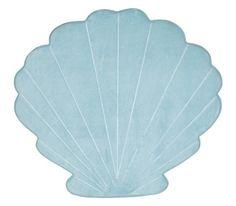 Memory foam bath mat mermaid style