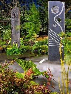 Eclectic Sculptures : Landscaping | Falling Water Designs : Garden Galleries : HGTV - Home & Garden Television