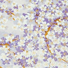 """Japanese Chiyogami Yuzen Paper - White and Purple Blossoms on Lavender 5"""" x 4.25"""" on Etsy, £0.58"""