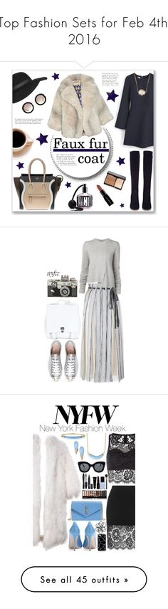 """""""Top Fashion Sets for Feb 4th, 2016"""" by polyvore ❤ liked on Polyvore featuring MANGO, Gianvito Rossi, CÉLINE, Jules Smith, Topshop, Miu Miu, Smashbox, A.W.A.K.E., Victoria's Secret and women's clothing"""