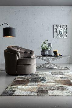 €799 | Music Hall Grey fauteuil, unieke en trendy fauteuil uit de meubel collectie van Kare Design. De eigenzinnige meubels van dit unieke woonmerk zijn echte blikvangers en geven karakter aan uw interieur! Afmeting: (hxbxd) 71x90x86 cm. Kare Design, Swivel Armchair, Upholstered Chairs, Carpet Squares, Design Tisch, Console, Laser, Floor Lamp, Home Furniture